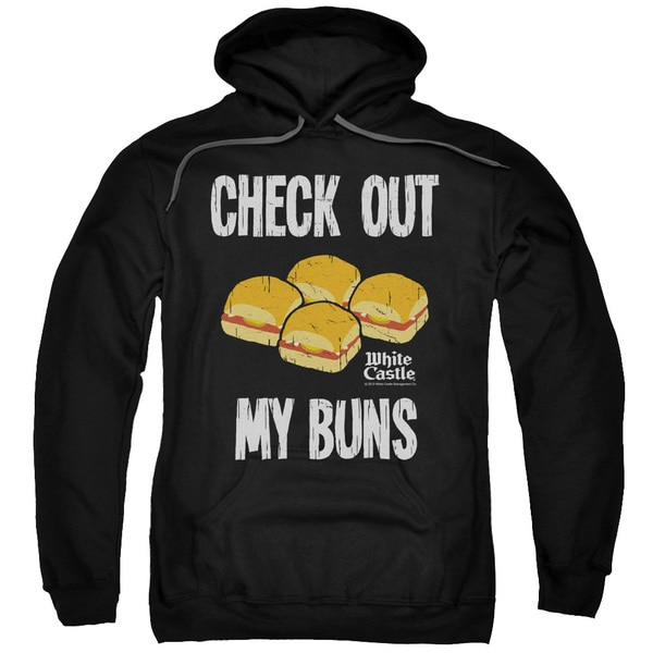 White Castle/My Buns Adult Pull-Over Hoodie in Black