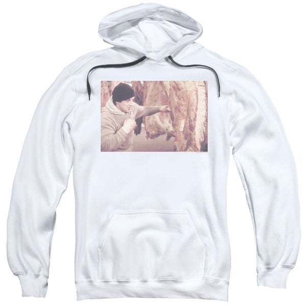 Rocky/Meat Locker Adult Pull-Over Hoodie in White
