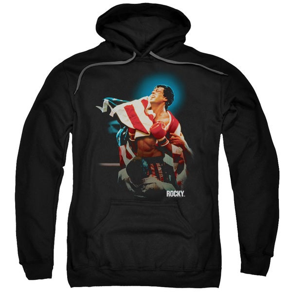 Rocky/Victory Adult Pull-Over Hoodie in Black 18702357