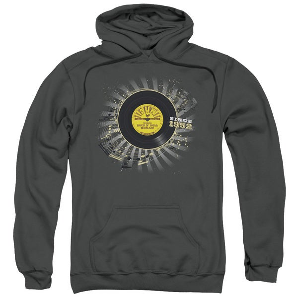 Sun/Established Adult Pull-Over Hoodie in Charcoal