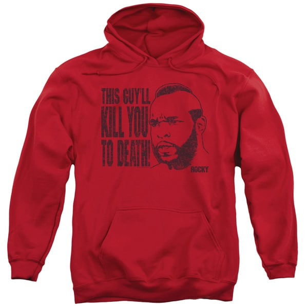 MGM/Rocky/Kill You To Death Adult Pull-Over Hoodie in Red