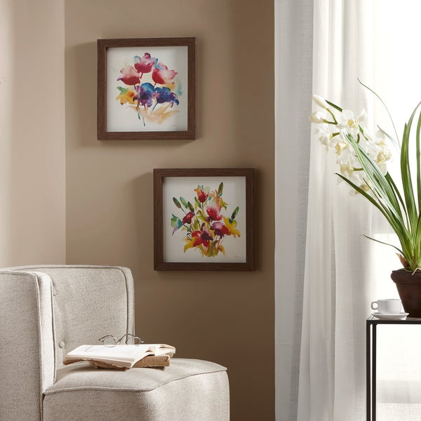 Madison Park Color in Love Multi Framed Gel Coated Paper (Set of 2)