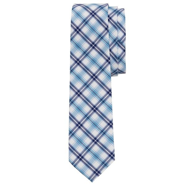 Windowpane Checkered Sky Blue Tie