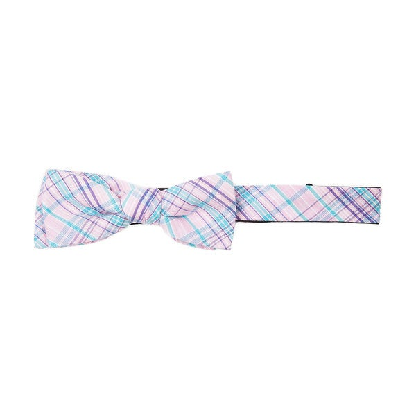 Muted Plaid Pink Bowtie