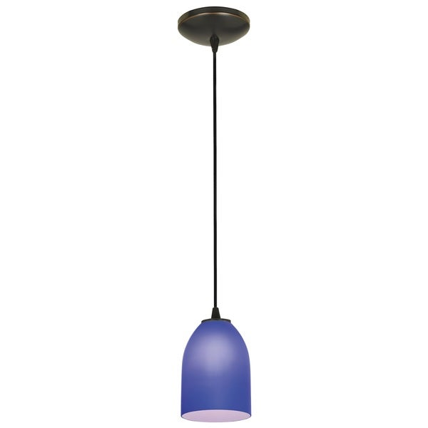 Access Lighting Bordeaux Bronze LED Cord Pendant, Cobalt Shade