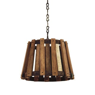 Hip Vintage Wood Crate Pendant Light Fixture