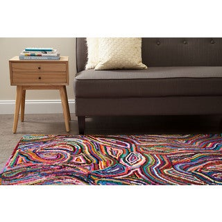 Jani Tia Multi Color Cotton Rug (5' x 8')