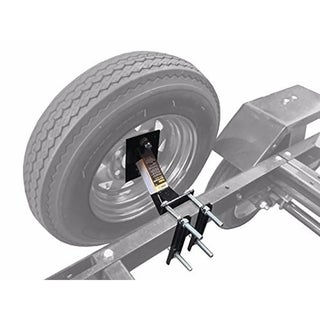 MaxxHaul Black Powder-coat Trailer Spare Tire Carrier