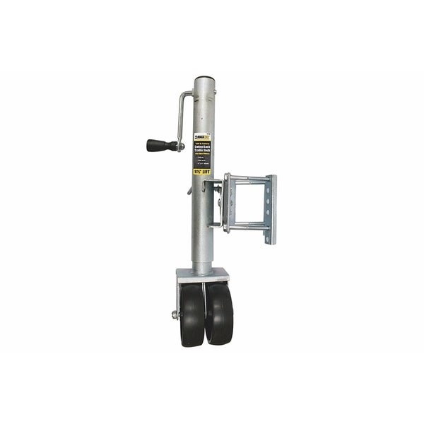 MaxxHaul 11.5-inch 1,500-pound Capacity Lift Swing Back Trailer Jack With Dual Wheels