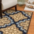 Christopher Knight Home Roxanne Faye Indoor/Outdoor Blue Floral Rug (8' x 10')