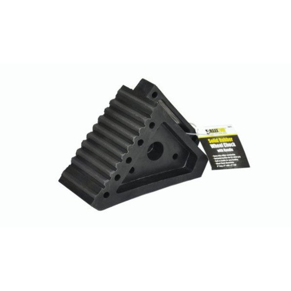 MaxxHaul Solid Rubber Heavy-duty Wheel Chock