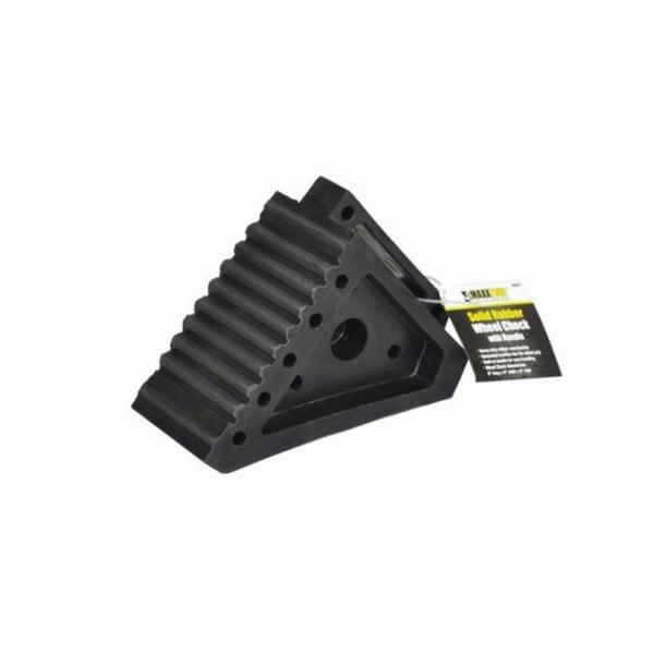 MaxxHaul Solid Rubber Heavy-duty Wheel Chock