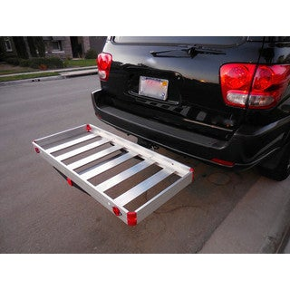 MaxxHaul 48-inch x 21-inch 500-pound Load Capacity Hitch-mount Compact Aluminum Cargo Carrier