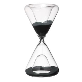 3.6-inch x 7-inch Black Sand Hourglass