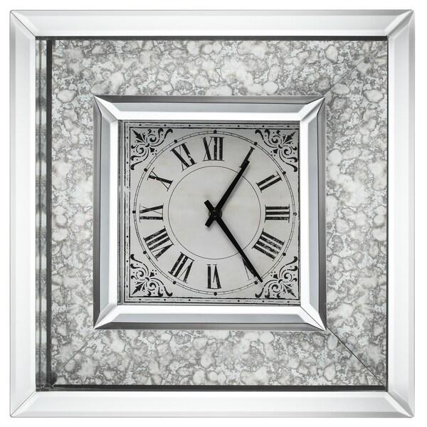 Astrid 16-inch x 16-inch Mirrored-frame Wall Clock