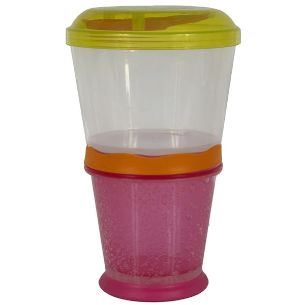Cool Gear Pink/Lime Stackable Cereal on the Go Bowls
