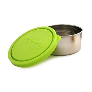 Kids Konserve 8-ounce Lime Green Stainless Steel Round Containers