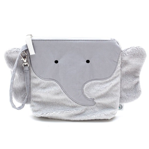 Nikiani Pebbles/Grey Plastic Elephant Snack Bag