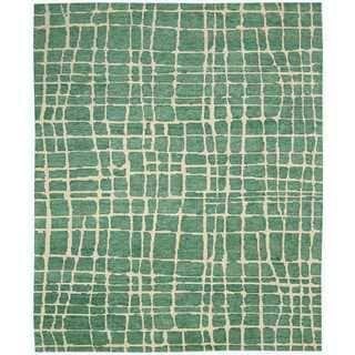 Nourison Tahoe Modern Turquoise/Green Rug (9'9 x 13'9)