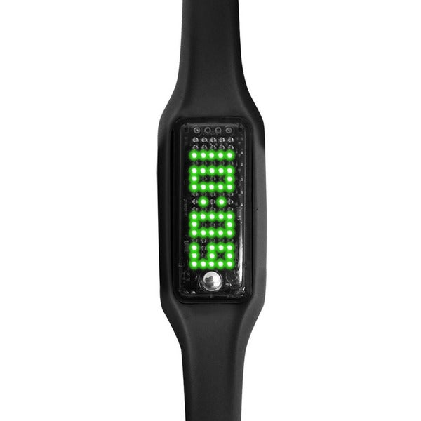Dakota Smart Band Black Silicone/Plastic Bluetooth Fitness Watch