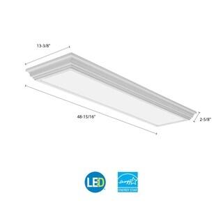 Lithonia Lighting White 4-foot 4000K Cambridge LED Linear Flush Mount