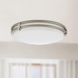 Lithonia Lighting Saturn 13-inch Brushed Nickel 3000K Round LED Flush/Semi-Flush Mount
