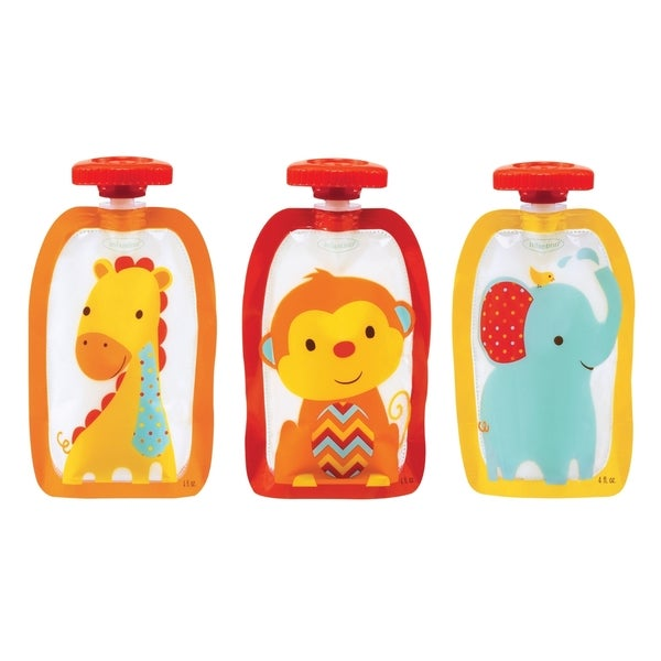 Infantino Neutral Fashion 4-ounce Squeeze Pouches (Pack of 50)