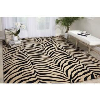 Michael Amini Zambiana Black/White Area Rug by Nourison (9'3 x 13')
