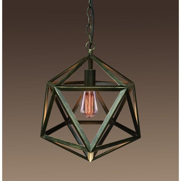 Warehouse of Tiffany Lupia 14-inch 1-light Hexagon Bronze Edison Pendant Light with Bulb