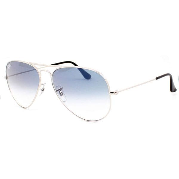 Ray-Ban RB3025 003/3F Aviator Gradient Silver Frame Light Blue Gradient 55mm Lens Sunglasses