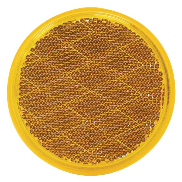 PM V475A Amber Round Stick-On Reflector