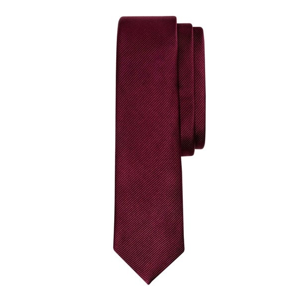 Burgundy Luxury Tonal Silk Tie