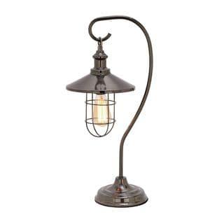 Benzara Black Metal Table Lamp