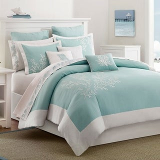 Harbor House Coastline Aqua Cotton 3-piece Duvet Cover Set