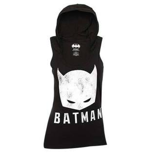 Women's Black and White Batman Hooded Tank Top 18706696