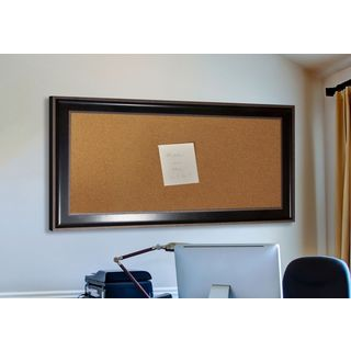 American Made Rayne Black With Silver Caged Trim Corkboard
