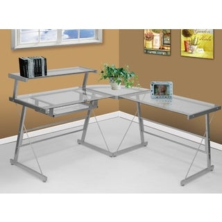 Bueller Desk in Silver