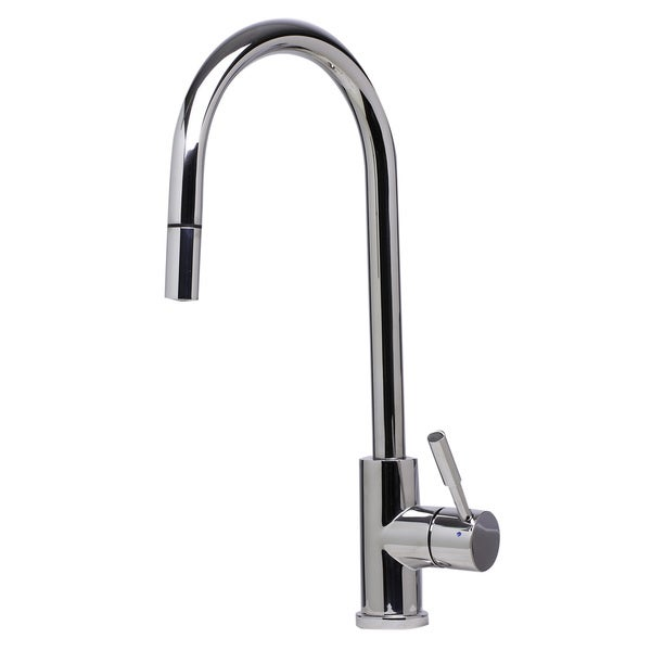 ALFI brand AB2028-PSS Polished Stainless Steel Single-hole Pull-down Kitchen Faucet