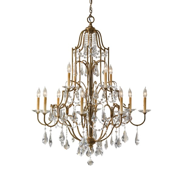 Feiss Valentina 6 Light Oxidized Bronze Chandelier