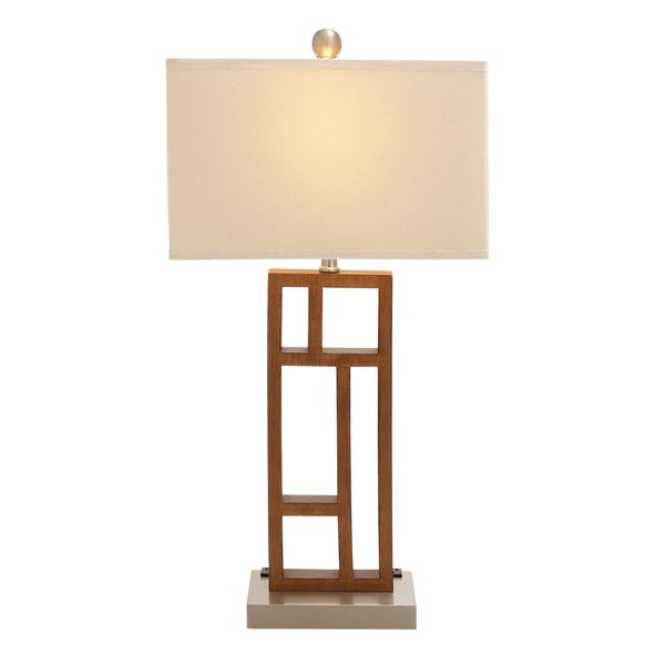 Benzara Wood Stainless Steel Task Desk Lamp