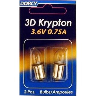 Dorcy 41-1661 3 D Krypton Bulbs 2 Pack
