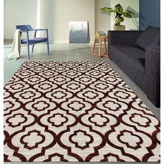 Moroccan Trellis Pattern High Quality Soft Red Area Rug (2' x 7'2)