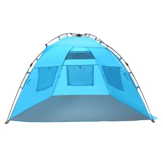 EasyGo Instant Easy Up Beach Umbrella Tent Sun Sport Shelter