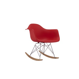 Modern EAMES Style Rocking Armchair Natural Wood Legs (Set of 2)