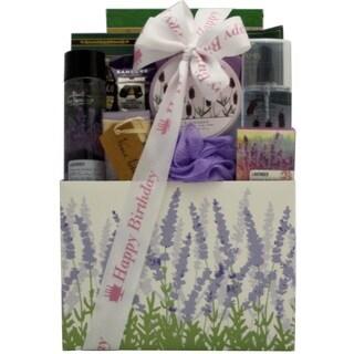 Lavender Spa Pleasures Bath and Body Birthday Gift Basket