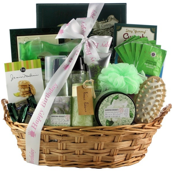 Gardenia Bouquet Spa Haven Bath & Body Birthday Gift Basket