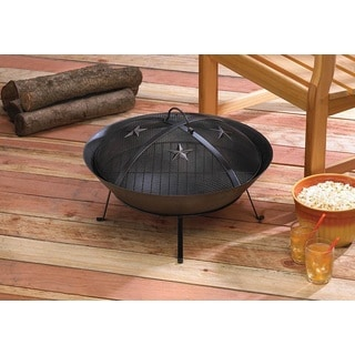 Black Wrought Iron Texas-style Fire Pit