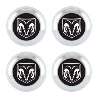 Pilot Automotive Dodge Officially License Plate Fastener Caps for Vehicles Cars