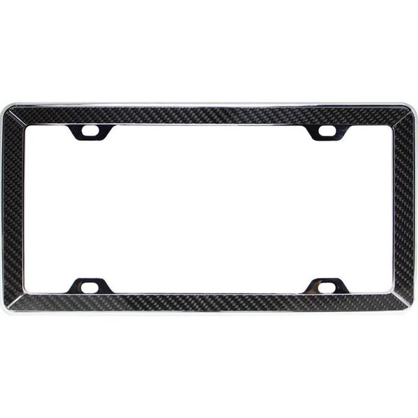 Pilot Automotive Carbon Fiber License Plate Frame for Vehicles Automobile