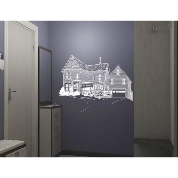 House family home harmony Wall Art Sticker Decal White
